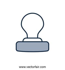 Isolated office seal half line half color style icon vector design