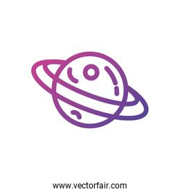 Isolated saturn planet icon vector design