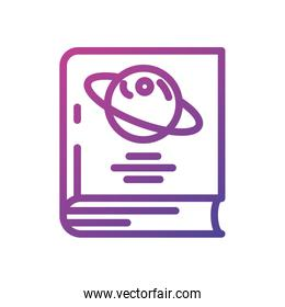 Isolated saturn planet book vector design