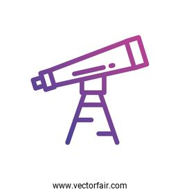 Isolated telescope icon vector design