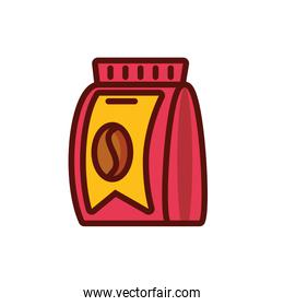 Isolated coffee bean bag vector design