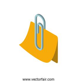 Isolated paper clip vector design
