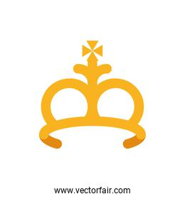 Isolated king crown vector design