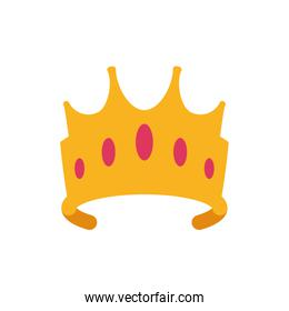 Isolated queen pink and gold crown vector design