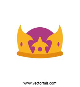 Isolated king purple and gold crown vector design