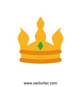 Isolated king green and gold crown vector design