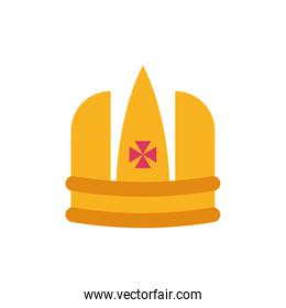 Isolated king pink and gold crown vector design