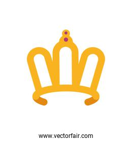 Isolated queen purple and gold crown