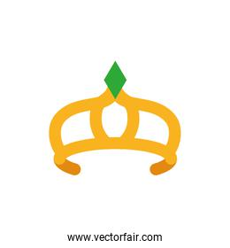 Isolated queen green and gold crown vector design