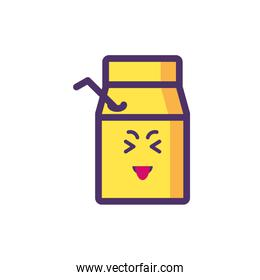 Kawaii medicine jar cartoon vector design