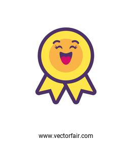 Kawaii seal stamp cartoon vector design