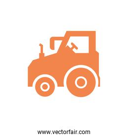 Isolated construction truck vector design