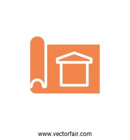 Isolated plans with house vector design