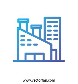 Isolated factory icon vector design