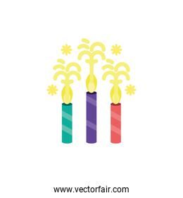 Isolated party candles vector design