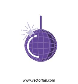 Isolated disco sphere vector design