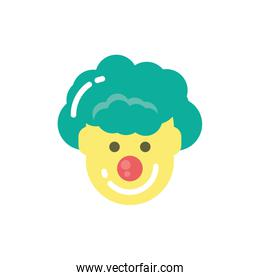 Isolated party clown vector design