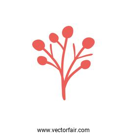 Isolated red flower flat style icon vector design