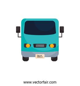 Isolated bus vehicle flat style icon vector design