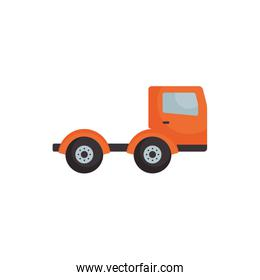 Isolated truck vehicle flat style icon vector design