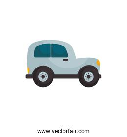 Isolated car vehicle flat style icon vector design