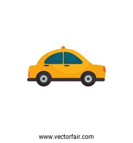 Isolated taxi vehicle flat style icon vector design