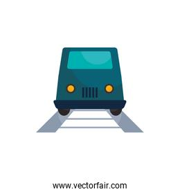 Isolated train and rail vehicle flat style icon vector design