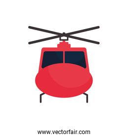 Isolated helicopter flat style icon vector design