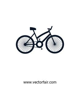 Isolated bike silhouette style icon vector design