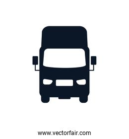 Isolated truck vehicle silhouette style icon vector design