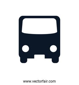 Isolated bus vehicle silhouette style icon vector design