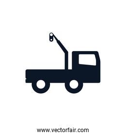 Isolated crane truck silhouette style icon vector design
