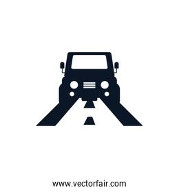Isolated car vehicle silhouette style icon vector design