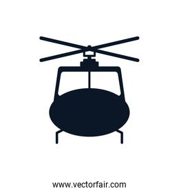 Isolated helicopter silhouette style icon vector design