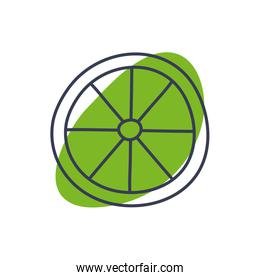 Isolated lemon fruit line color style icon vector design