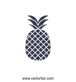 Isolated pineapple fruit silhouette style icon vector design