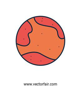 Isolated mars line fill style icon vector design