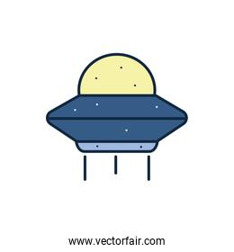 Isolated ufo line fill style icon vector design