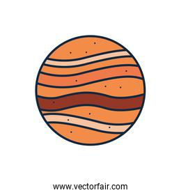 Isolated jupiter line fill style icon vector design