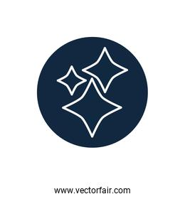 Isolated stars line block style icon vector design