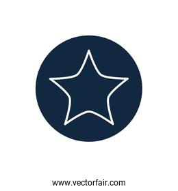 Isolated star line block style icon vector design