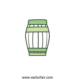 Isolated barrel of beer line style icon vector design