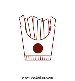 Isolated french fries line style icon vector design
