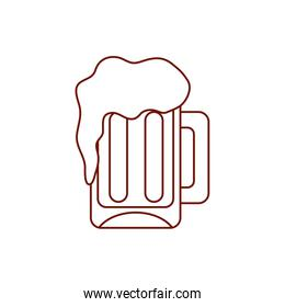 Isolated beer glass drink line style icon vector design