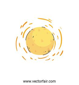 Isolated sun line and fill style icon vector design