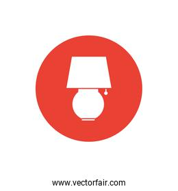 Isolated desk lamp block style icon vector design