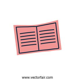 Isolated open book doodle line fill style icon vector design