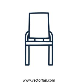 Isolated chair doodle line style icon vector design