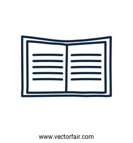Isolated open book doodle line style icon vector design