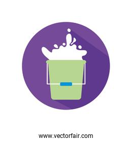 Isolated milk bucket flat style icon vector design